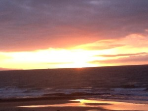 sunset storm brewing