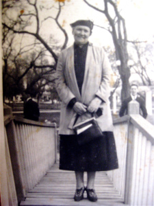 My maternal grandmother, a woman of strong faith, great kindness, and soft hugs for five children, thirteen grandchildren...and many great- and great-great grandchildren.